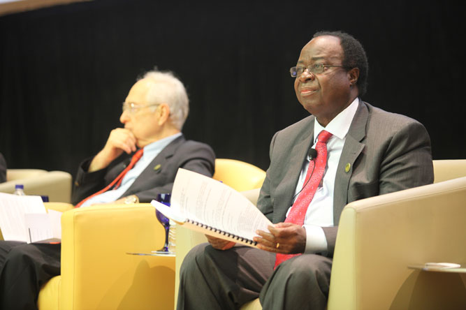 Bank of Tanzania (BOT) Governor Benno Ndulu participates in the 2013 Global Policy Forum.