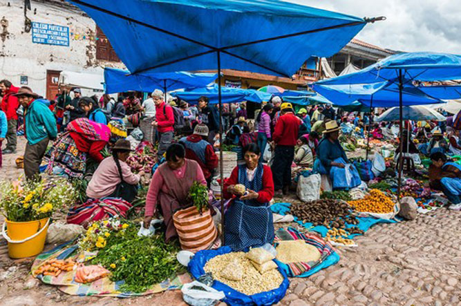 Mobile banking could prevent prices from spiking in Peruvian street markets on pay days.