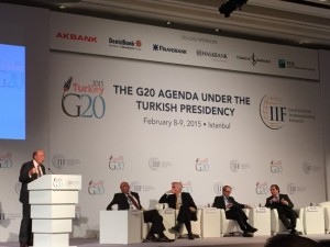 The IIF G20 Conference: The G20 Agenda under the Turkish Presidency's Financial Inclusion and New Technologies session on 8 February 2015 in Istanbul.