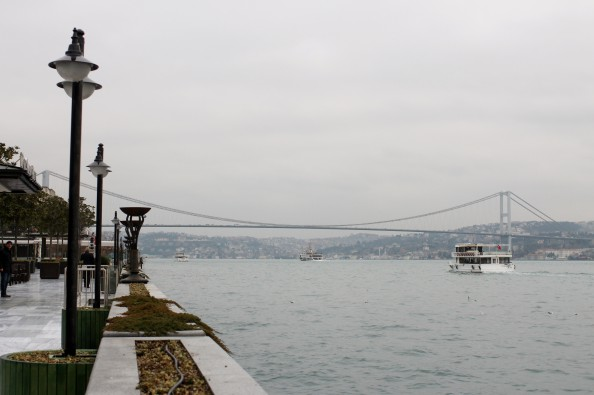 A view of the Bhosphorus Bridge in Istanbul, Turkey.