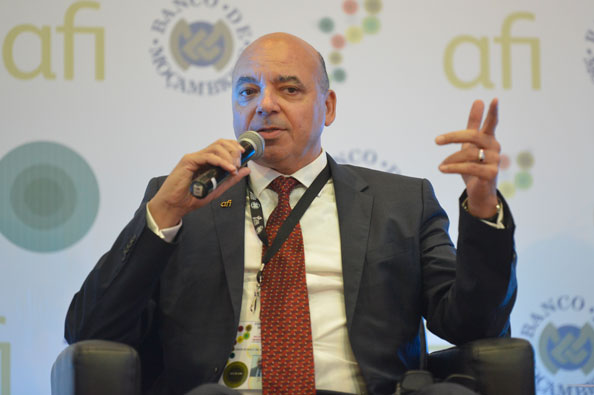 Alfred Hannig speaks at the 2015 Global Policy Forum in Maputo, Mozambique, in September.
